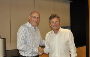 (Left)Neil Livesey of Technoflex and (Right) Micheal Foran of ARC International